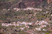 pic of canary  - Village in the mountain at Gran Canaria in the Spanish Canary Islands - JPG