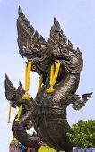 image of budha  - King of Nagas statue Thai traditional style in Budha - JPG