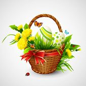 pic of gift basket  - Easter card with basket - JPG