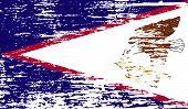 foto of samoa  - Flag of American Samoa with old texture - JPG