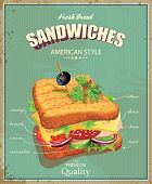 stock photo of deli  - Vintage poster - JPG
