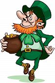 pic of gold panning  - Leprechaun with pot of gold - JPG