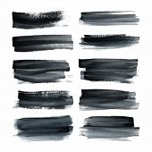 picture of strip  - Set of ink hand painted stripes - JPG