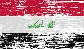 foto of iraq  - Flag of Iraq with old texture - JPG