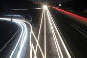 foto of headlight  - Photo on long exposure headlights from passing cars - JPG