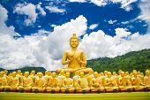 foto of buddha  - Buddha at Buddha Memorial park Nakorn nayok Thailand - JPG