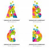 stock photo of letter  - Creative Alphabet Letters Logo - JPG