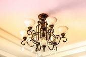 foto of light fixture  - lamp metal ceiling light fixture in roon - JPG