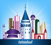 picture of colorful building  - Colorful City of Istanbul Turkey Famous Buildings - JPG