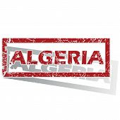 stock photo of algeria  - Outlined red stamp with country name Algeria - JPG
