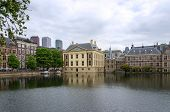 pic of prime-minister  - Mauritshuis Museum Binnenhof Palace and modern skyscrapers in The Hague  - JPG