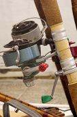 image of fishing rod  - Fishing rods old objects exhibit sport fishing - JPG