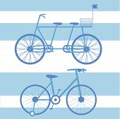 ������, ������: Illustration With Child And Adult Bikes Double