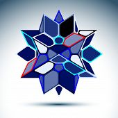 picture of twinkle  - Abstract 3D sapphire festive sphere with sparkles - JPG
