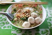 picture of thai food  - noodle of traditional thai food - JPG