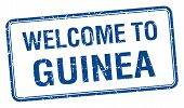 stock photo of guinea  - welcome to Guinea blue grunge square stamp - JPG