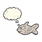 picture of goldfish  - cartoon happy goldfish with thought bubble - JPG