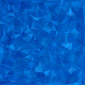 stock photo of polygon  - Abstract Blue Polygonal Background - JPG