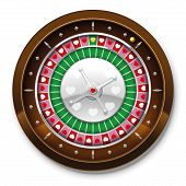 stock photo of loveless  - Roulette wheel with heart symbols instead of numbers - JPG