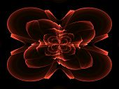 image of cosmic  - Orange abstract fractal cosmic spiral and lines - JPG