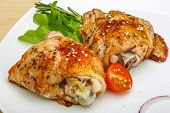foto of thighs  - Roasted chicken thighs with herbs and spices  - JPG