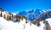 foto of south tyrol  - Winter landscape in South Tyrol with a lot of snow