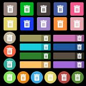 picture of reduce  - Recycle bin Reuse or reduce icon sign - JPG
