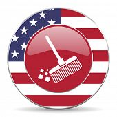 stock photo of broom  - broom american icon original modern design for web and mobile app on white background  - JPG