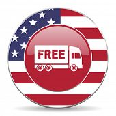 pic of free-trade  - free delivery american icon original modern design for web and mobile app on white background  - JPG