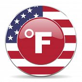 picture of fahrenheit thermometer  - fahrenheit american icon original modern design for web and mobile app on white background  - JPG