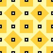 stock photo of rhombus  - Square Seamless Pattern with Rhombus Structure - JPG