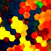 pic of color geometric shape  - Colorful hexagon background - JPG