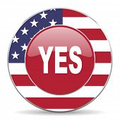 stock photo of day judgement  - yes american icon original modern design for web and mobile app on white background  - JPG