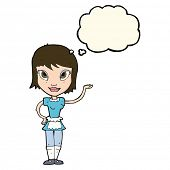 pic of maids  - cartoon maid with thought bubble - JPG