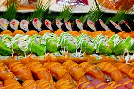 picture of buffet catering  - Closeup Japanese Cuisine  - JPG