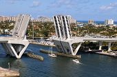 Ft. Lauderdale bridge lifting to allow ships get across