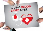 Giving Blood Saves Lifes Blood Donation Give Life poster