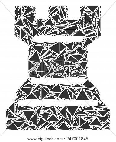 Chess Tower Mosaic Of Triangle