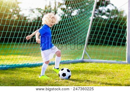 Kids Play Football Child At