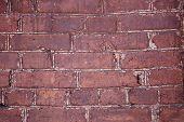 Wall Brick Seam Distressed Retro Concrete Masonry Crack Street House Construction poster
