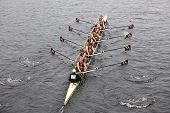Northeastern University races in the Head of Charles Regatta