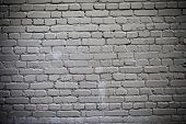 Firewall Of Building Built Of White Refractory Bricks. poster