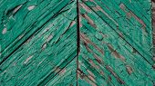 Green Mint Painted Wood Board Texture And Background. Green Mint Natural Wooden Background. Aged Woo poster