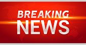 Breaking News Broadcast Concept Design Template For News Channels Or Internet Tv Background. Breakin poster