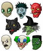 foto of wiccan  - A collection of 8 different halloween monsters and creatures - JPG