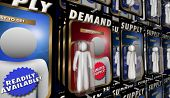 Supply and Demand Economic Law Principal Product Availability 3d Illustration poster