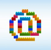 E-mail Icon From The Blocks Of The Constructor. Symbol Electronic Dog. Icons From The Constructor. I poster