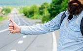 Usually Use Thumb Up To Inform Drivers Hitchhiking. But In Some Cultures Gesture Offensive So You Ri poster