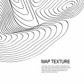 Topographical Terrain Map With Line Contours poster