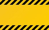 Hazard Texture. Yellow And Black Diagonal Stripes. Caution Or Warning Template. Construction Border  poster